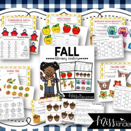 Fall Literacy Centers for Kindergarten