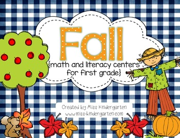 Fall Math and Literacy Centers {first grade}