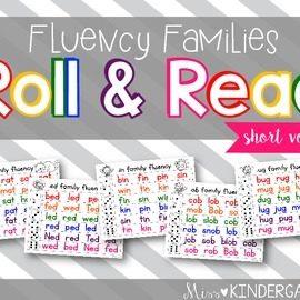 Fluency Families Roll & Read {short vowels}