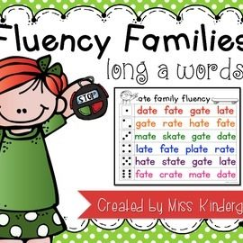 Reading Fluency Practice Long a Words