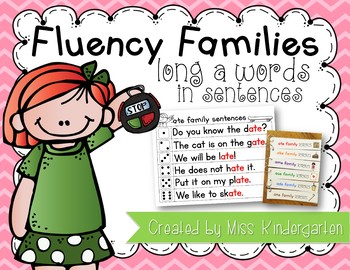 Fluency Sentences Long a Words