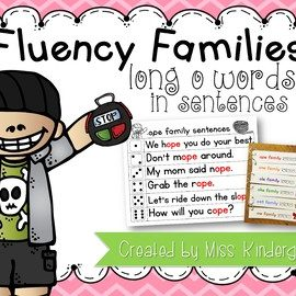 Fluency Sentences Long o Words