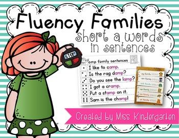 Fluency Sentences Short a Words
