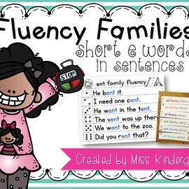 Fluency Sentences Short e Words