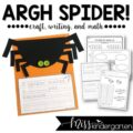 Spider craft with a writing and math connection
