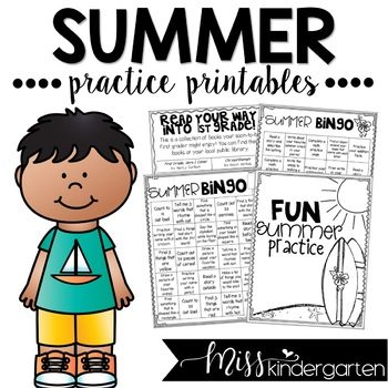 Free Summer Practice Printables
