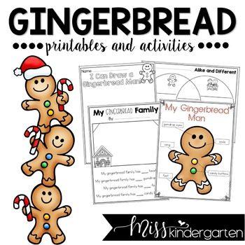 Gingerbread Man Activities Freebie