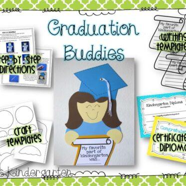 Graduation Buddies Craft and Writing Templates