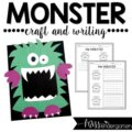 monster craft with a writing connection
