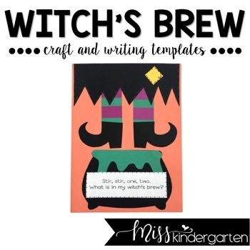 Witch's brew Halloween craft for kindergarten