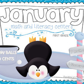 January Centers Math and Literacy First Grade