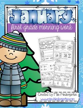 January Morning Work First Grade