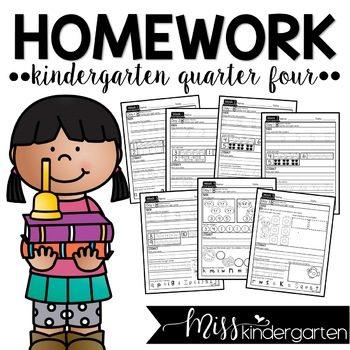 Kindergarten Homework Packets Quarter Four