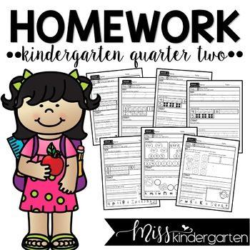 Kindergarten Homework Packets Quarter Two