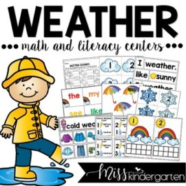 Kindergarten Weather Activities and Centers