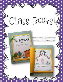 Kindergarten Writing Class Books {freebie}