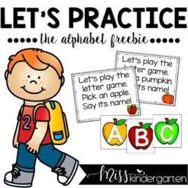 Let's Practice The Alphabet {freebie}