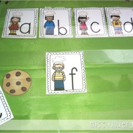 Letter Recognition Activities {who stole the cookie?}