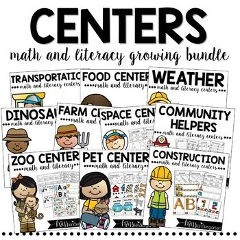 Ready to use themed math and literacy centers for kindergarten