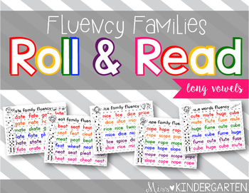 Long Vowel Fluency Practice Roll and Read