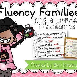 Long e Fluency Sentences
