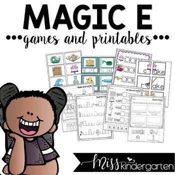 Magic e Worksheets CVCe Activities