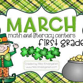 March Centers Math and Literacy First Grade