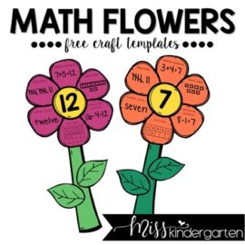 Math Flowers Free Spring Math Craft