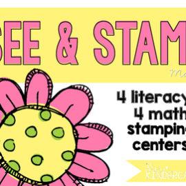 May Centers for Kindergarten