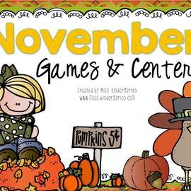 November Centers for Math and Literacy Kindergarten