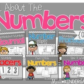 Number Practice Interactive Printables {Bundle}