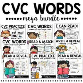 Phonics Activities CVC Words MEGA BUNDLE!