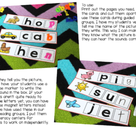 Phonics Activities Ending Sounds Practice {write and wipe cards}