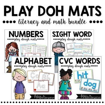 Playdough Mats Math and Literacy BUNDLE