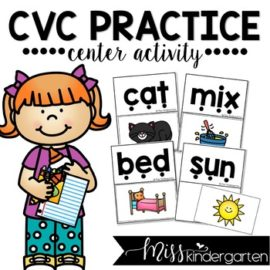Read and Match CVC Words Center