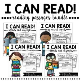 Reading Fluency Passages I Can Read Bundle | Distance Learning and Seesaw