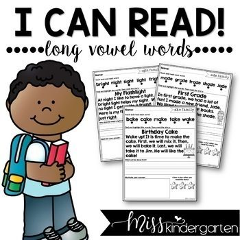 Reading Fluency Passages Long Vowel Words | Distance Learning and Seesaw