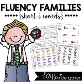 Reading Fluency Practice Short i Words