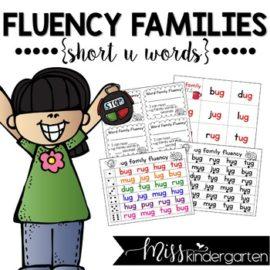 Reading Fluency Practice Short u Words