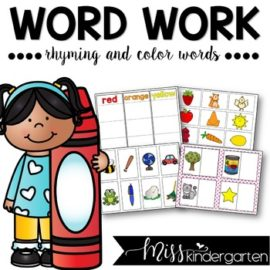 Rhyming Words and Color Words Practice