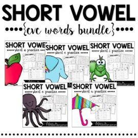 Short Vowels – CVC Word Work Bundle