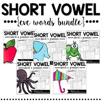 Short Vowels – CVC Word Work Bundle