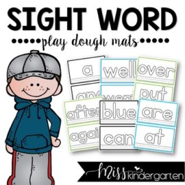 Sight Word Playdough Mats / Play Dough Mats / Playdoh Mats