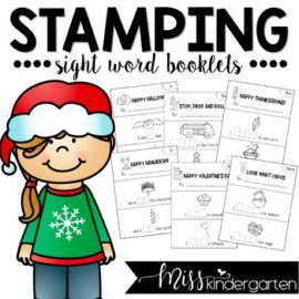 Sight Word Booklets Holiday Themes