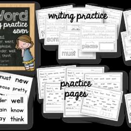 Sight Word Worksheets Set Seven