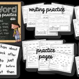 Sight Word Worksheets Set Six