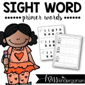 Sight Words Worksheets Primer Words