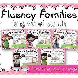 Simple Sentences Long Vowel Words Reading Fluency Practice
