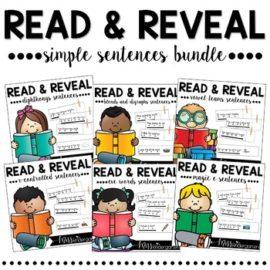 Sight Word Fluency Sentences | Reading Simple Sentences Read and Reveal Bundle