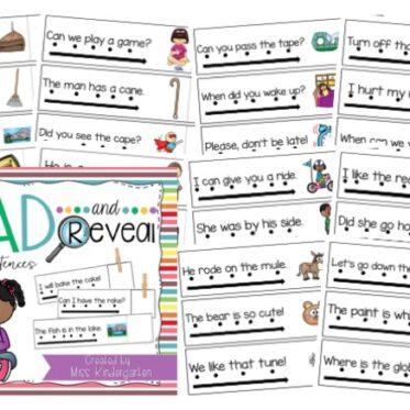 Simple Sentences | Sight Word Sentences with Magic e Words